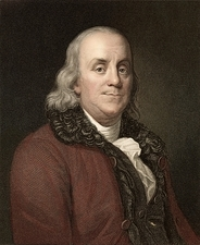 1778 Benjamin Franklin scientist