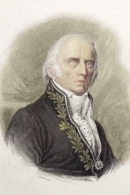1820 Jean Baptiste Lamarck old and blind