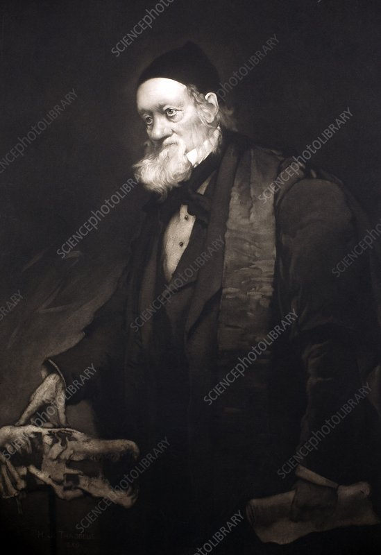 1889 Sir Richard Owen portrait in old age