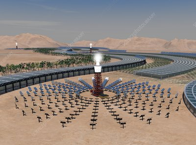 Concentrating solar power plant, artwork