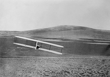 Chanute glider test flight, 1890s