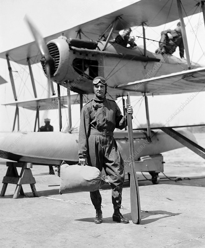 Byrd with seaplane, 1925