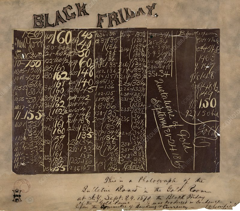 Black Friday gold prices, 1869 - Stock Image - C008/8561 - Science Photo  Library