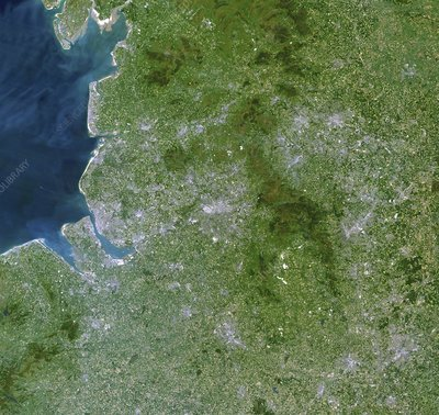 Greater Manchester, satellite image