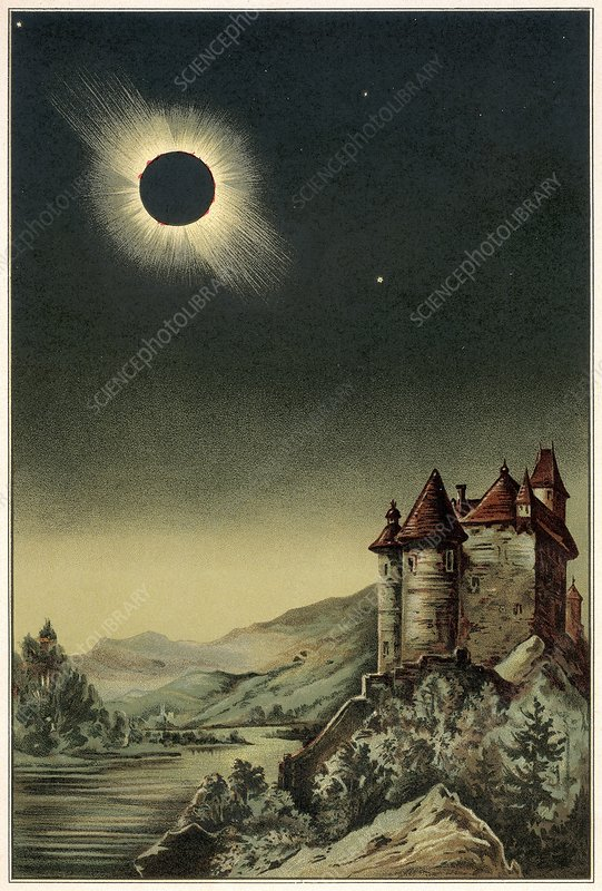 Total Solar Eclipse Of 1842 Stock Image C008 9306