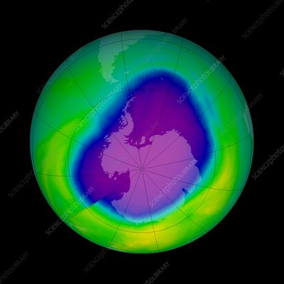 Antarctic ozone hole, 2000