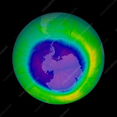 Antarctic ozone hole, 2009