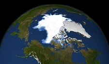 Arctic ice minimum extent, 2009