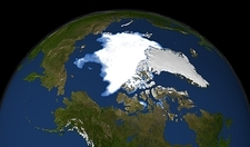 Arctic ice minimum extent, 2010