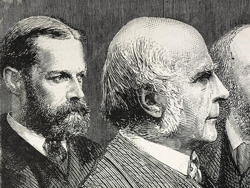 Francis Darwin and Francis Galton - Stock Image - C008/9503