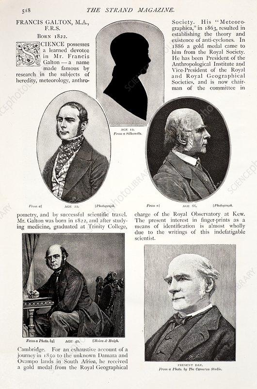 1897 Francis Galton British Eugenics - Stock Image - C008