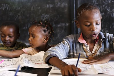 Children in classroom, Kenya