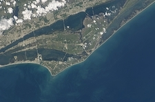 John F. Kennedy Space Center, from space