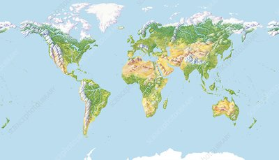 World land cover, global map