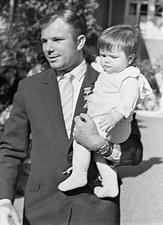 Yuri Gagarin and daughter