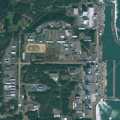 fukushima nuclear power plant on map. Fukushima nuclear power plant,