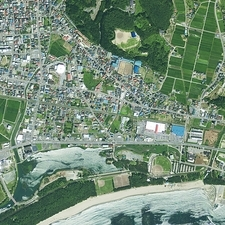 Rikuzentakata, Japan, satellite image
