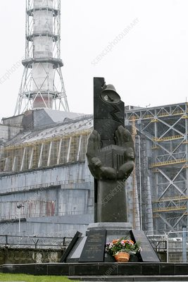 Chernobyl power station monument