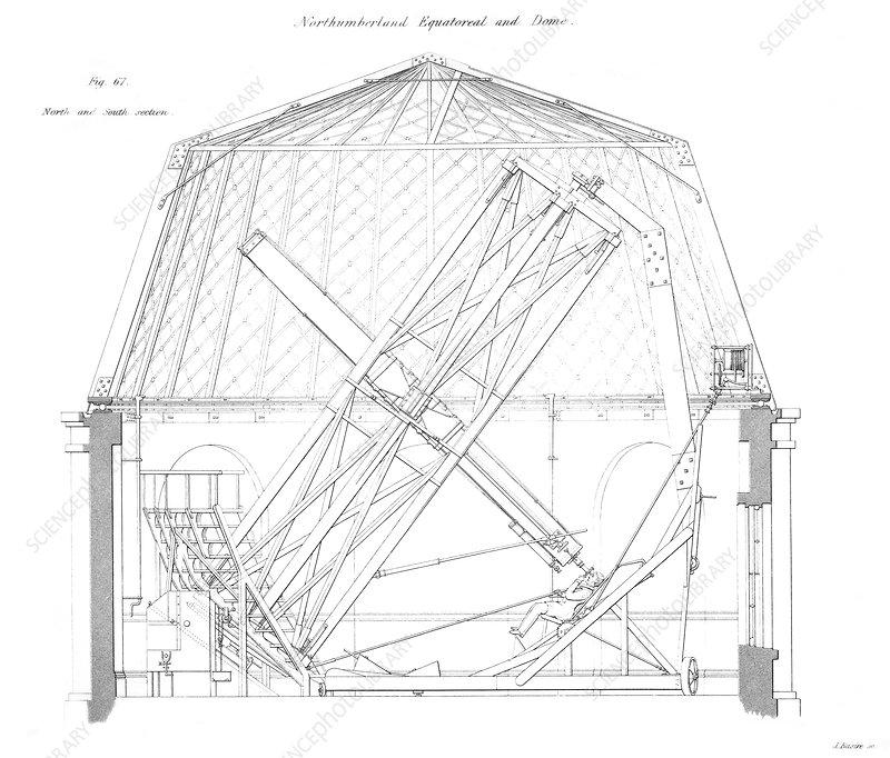 Northumberland Telescope Diagram Stock Image C0090536 Science