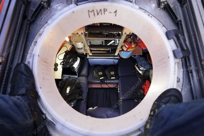 Interior of Mir-1 submersible