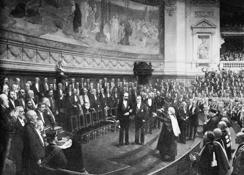 Pasteur's Jubilee celebrations, 1892