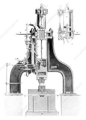 Nasmyth's steam hammer, artwork