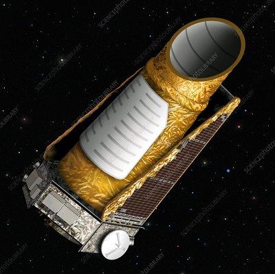Kepler Mission space telescope, artwork - Stock Image C009 ...