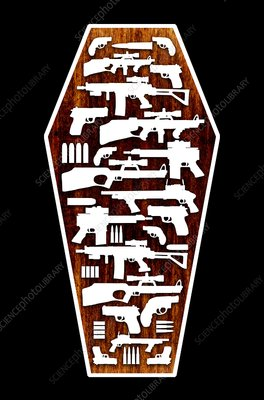 Gun crime, conceptual artwork