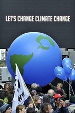 Climate change protest, Brussels, 2009