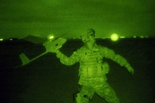 Raven UAV, night launch by US Army