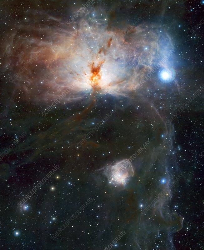 Flame Nebula, VISTA image