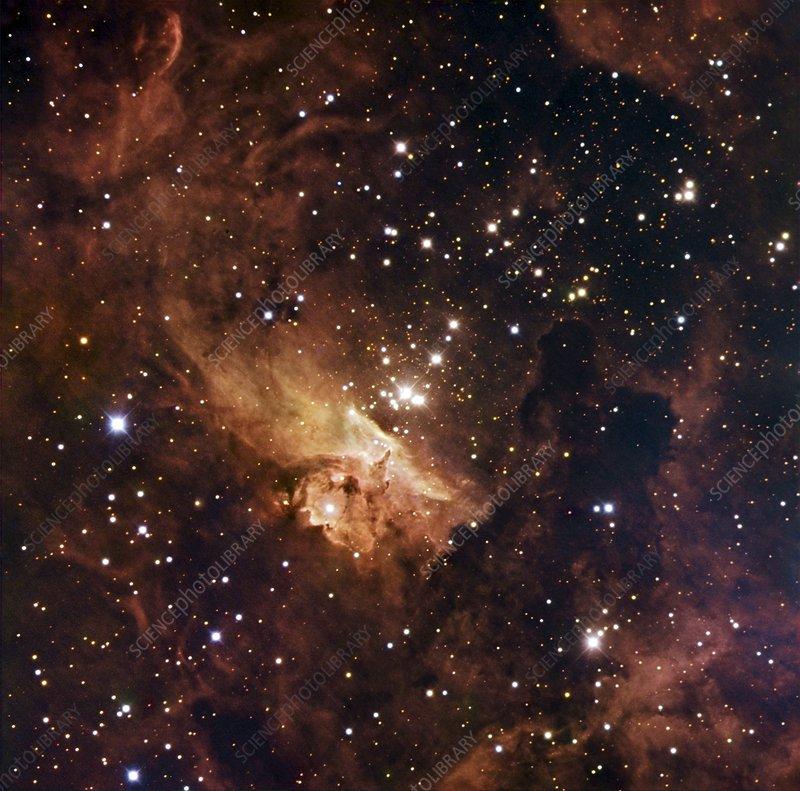 Nebula NGC 6357, optical image