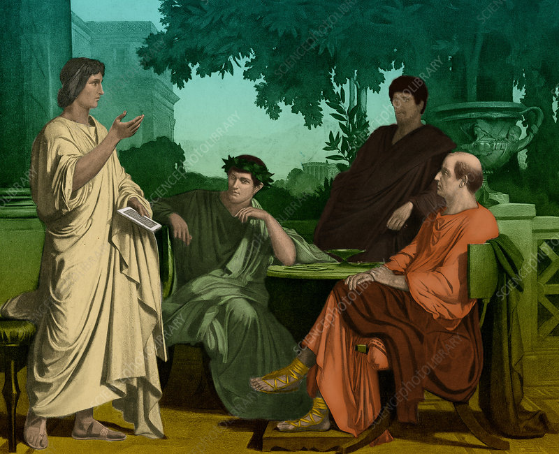 Philosophers at the house of maecenas