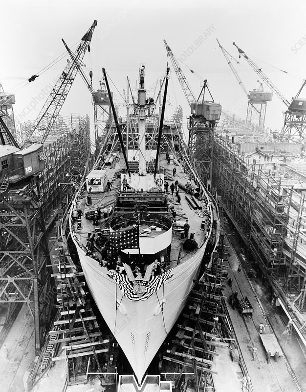 Construction of a Liberty ship