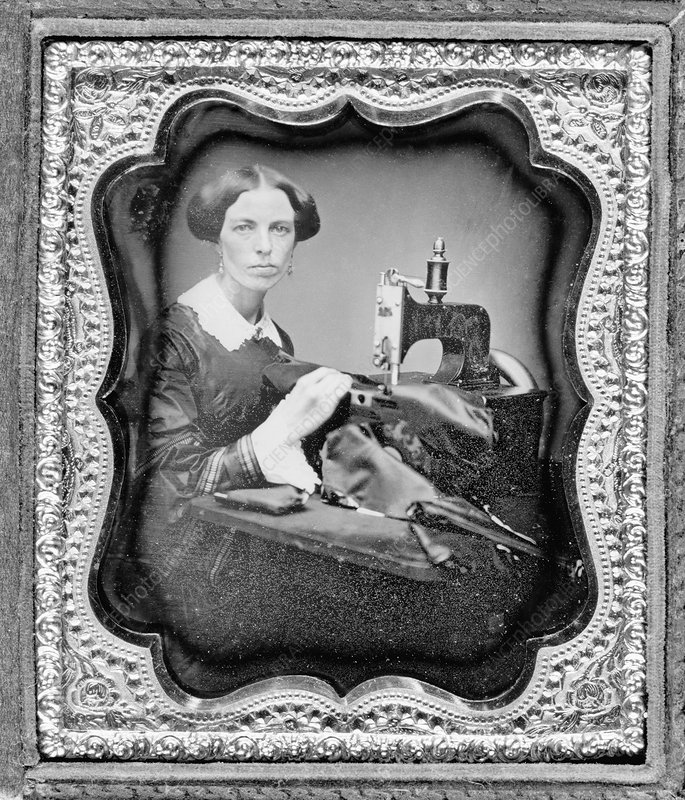 19th Century seamstress, historical image