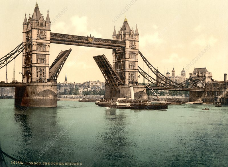 Tower bridge, 19th Century image