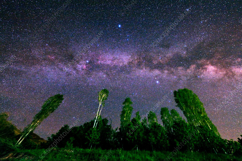 Milky Way in a Starry Sky