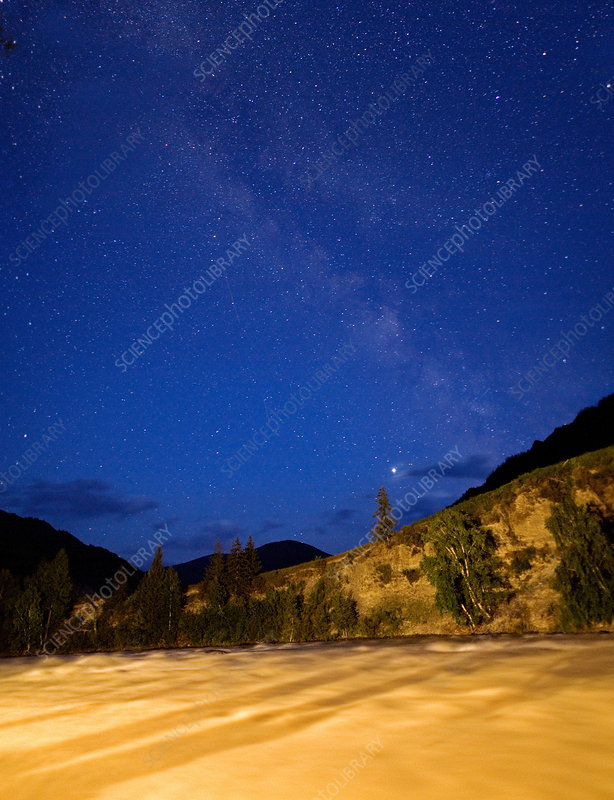 Altai Mountains under a Starry Sky