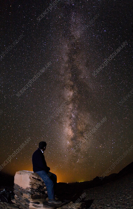 Milky Way Viewed from Ahaggar Mountains