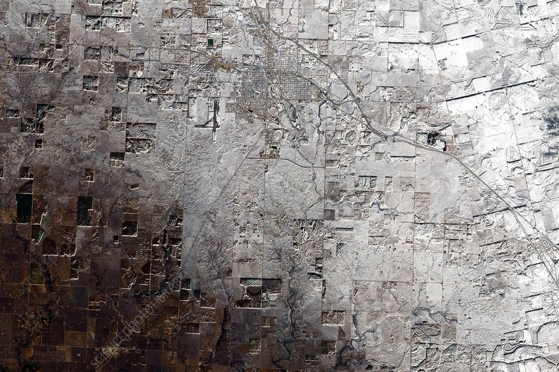 Snyder town, Texas, USA, satellite image