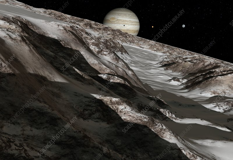 Jupiter from Ganymede, artwork