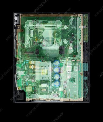 Games console, coloured X-ray