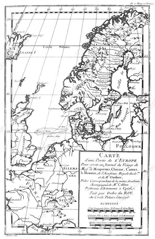 Northwest Europe, 18th Century map - Stock Image C009/5063 - Science ...