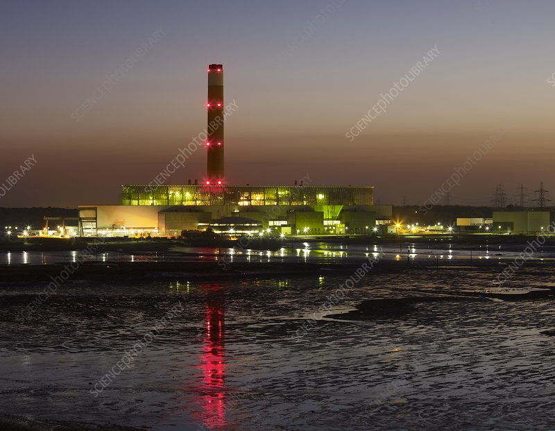 Fawley Oil Fired Power Station at Dusk