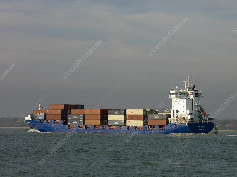 Container Vessel in Southampton Water