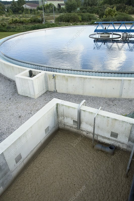 Water treatment works, France