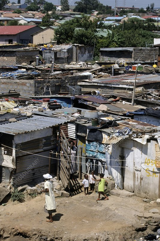 Shanty town, South Africa