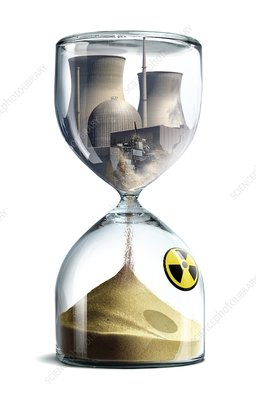 Nuclear hourglass, conceptual image
