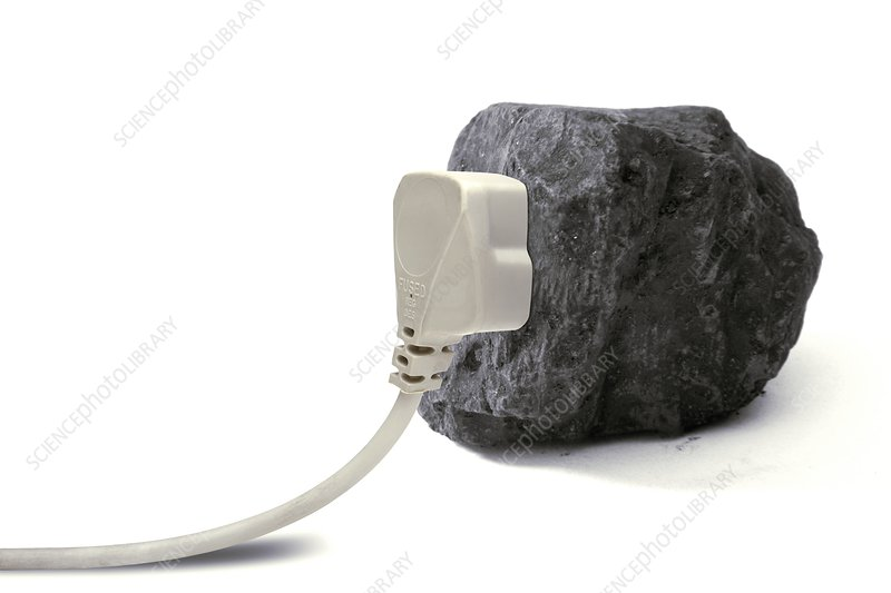 Electricity from coal, conceptual image