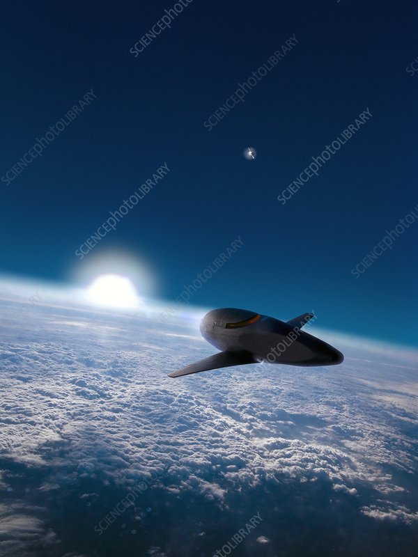 Space plane in Earth orbit